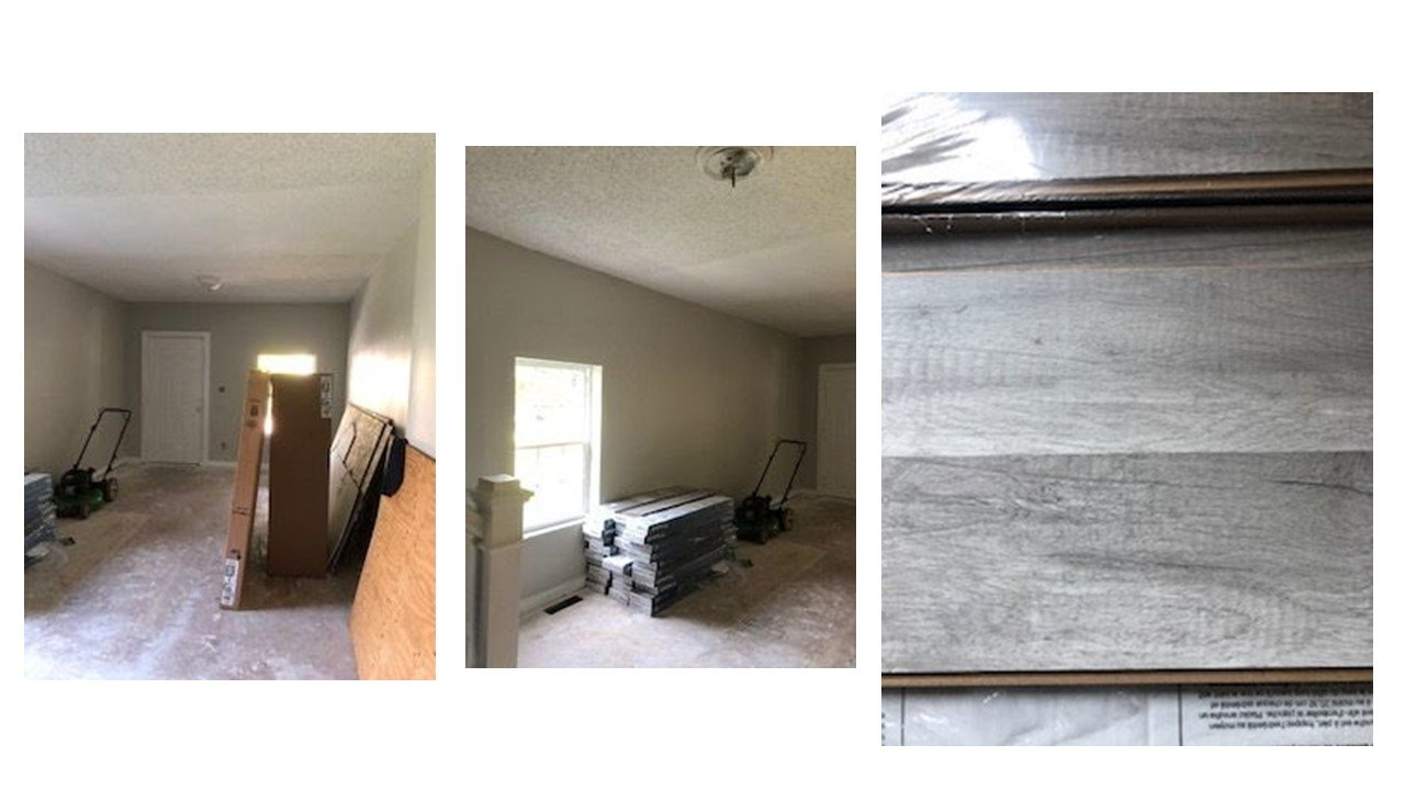 Indy BRRRR example during pics of interior and wall