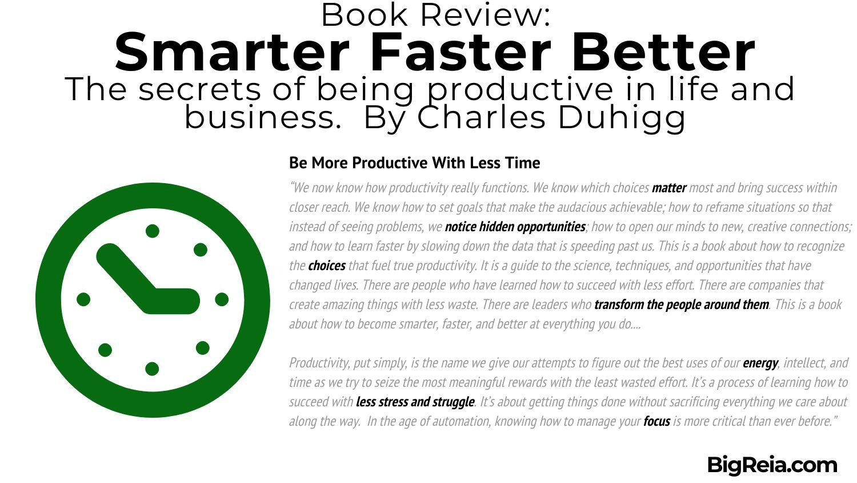 BigReia.com book review excerpt on productive time