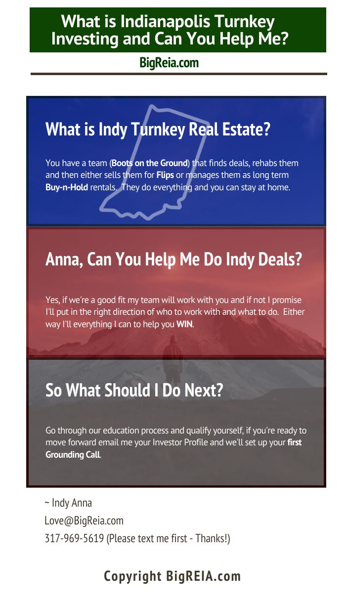 How Anna can help you do Indy turnkey deals
