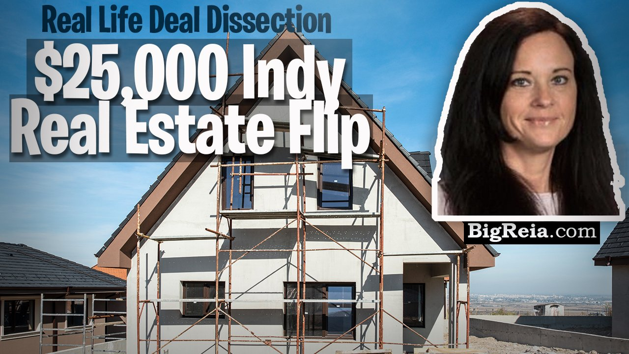 Real life $25,000 Indy house flip, example of an Indianapolis real estate deal from start to finish?