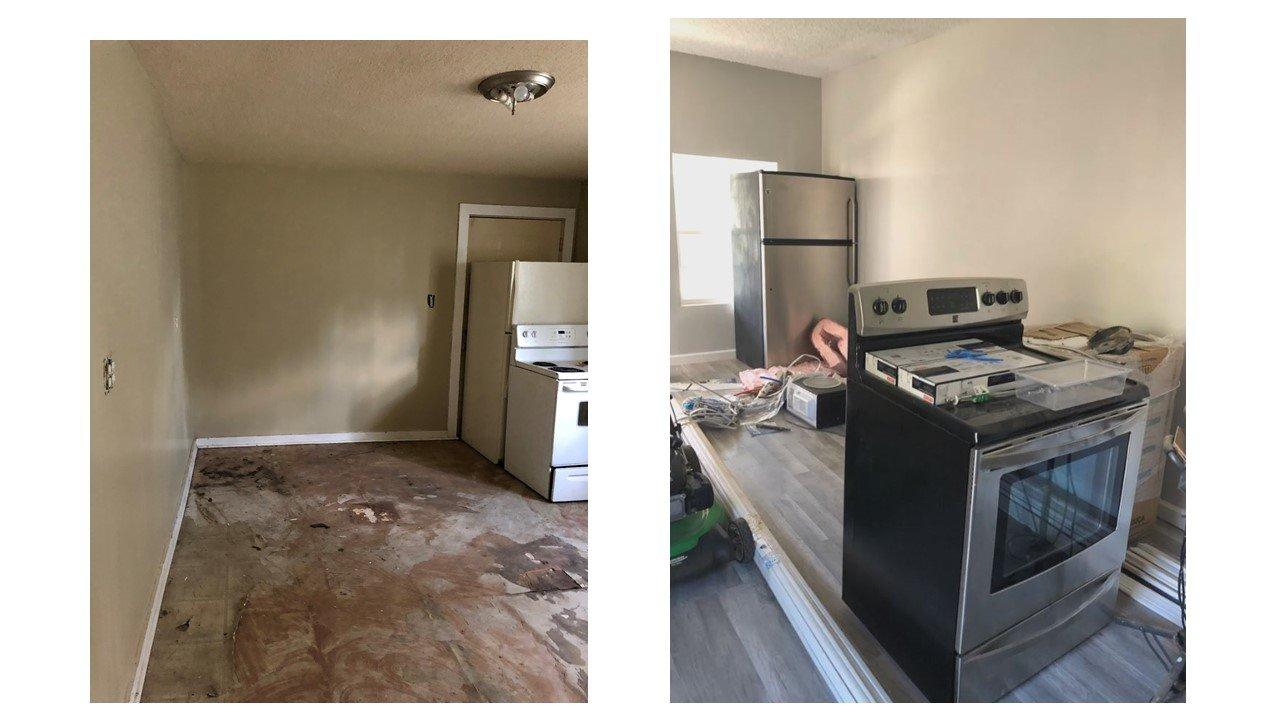 Indy duplex rehab kitchen - BigReia.com