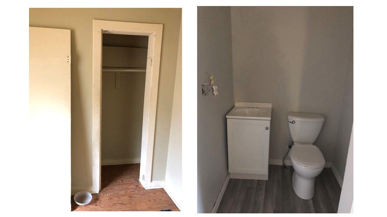 Indy duplex rehab new half bathroom - BigReia.com