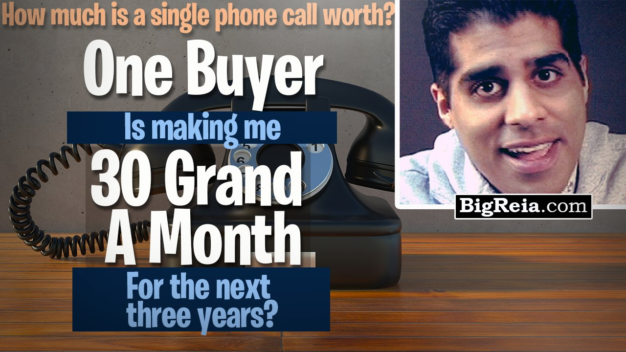 Real estate investor makes 30k/month for three years from ONE buyer? Get my exact script/emails free